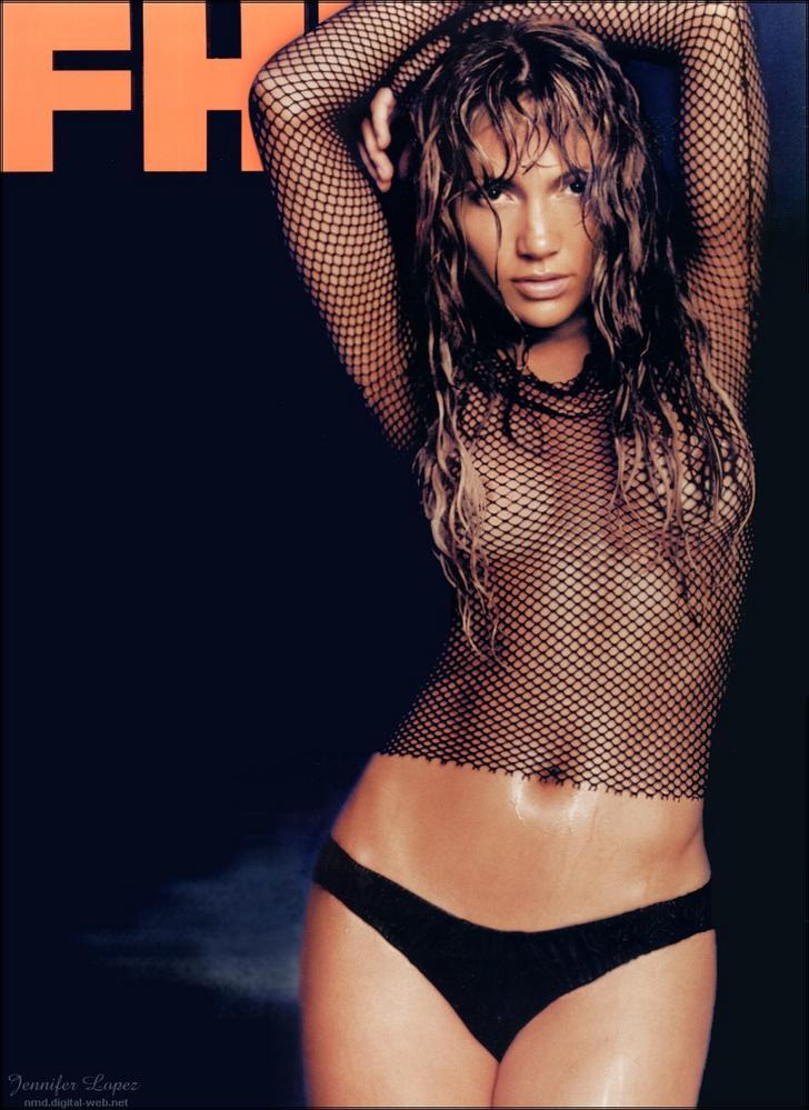 Jennifer Lopez shows her nipples for FHM